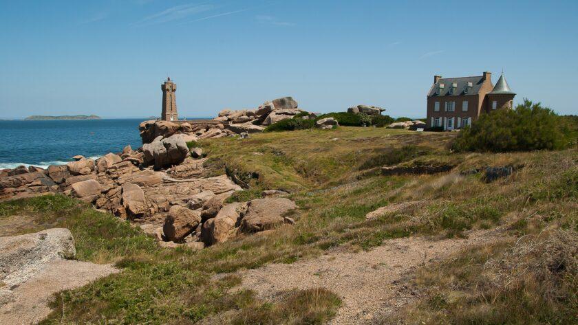 Le phare lors de la visite de ploumanach